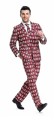 mens christmas costumes suit funny bachelor party suit jacket with tie by you - Christmas Suits For Mens