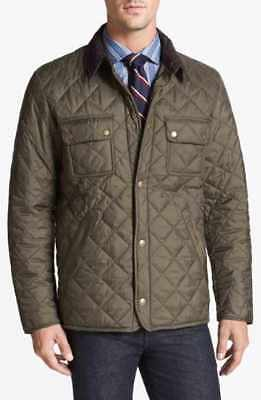 Barbour 'Akenside' Regular Fit Quilted Jacket Olive Size L
