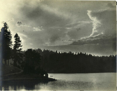 Stunning Vintage 1920s  Photograph of Lake Arrowhead by Arion Putnam