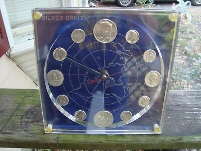 Silver coin numismatic clock