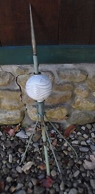 Original Antique Lighting Rod & Ball -  Moon And Stars Pattern Farm House Fresh