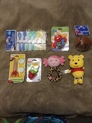 Sesame Street Baby Lot Of Seven Items!! Fast Shipping!