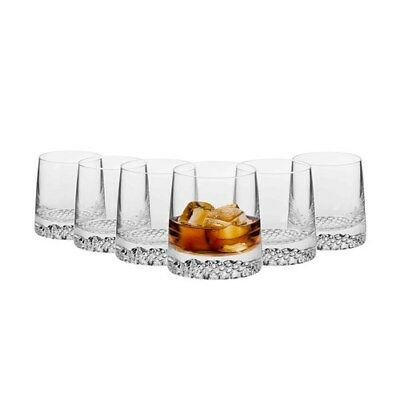 Krosno Tetra 350ml Whiskey Tumbler Set of 6 Brand New