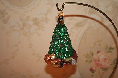 Old World Christmas Ornament Christmas Tree with Ornaments and  Toys
