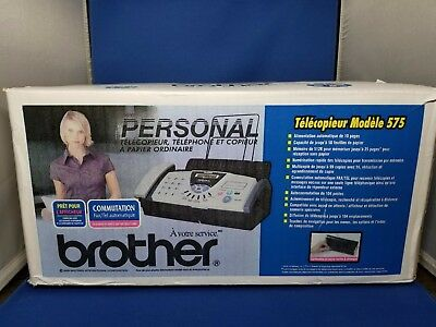 BRAND NEW BROTHER FAX-575 Personal Plain Paper Fax, Phone & copier new open box