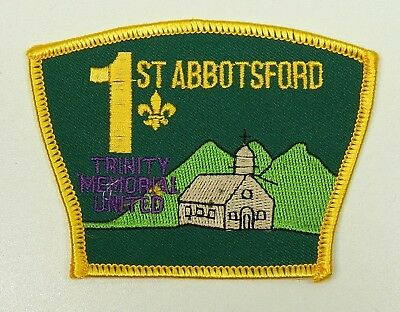 Scout badge 1st Abbotsford Trinity Memorial United British Columbia BC Canada