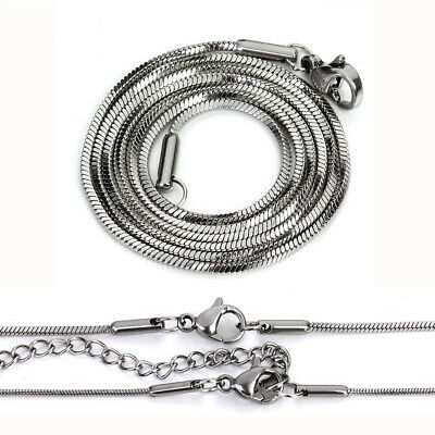 """-bb183-K 5pcs//lot Silver Stainless Steel Necklace Chain 16/"""" 18/"""" 20/"""" 24/"""" 28 inch"""