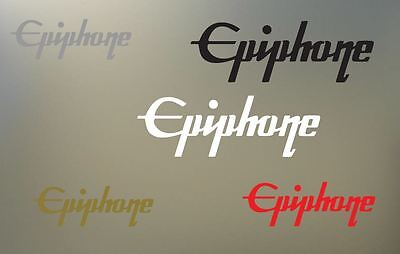 """(2) 8"""" EPIPHONE vinyl Decal sticker any color surface guitar phone gibson  S928"""