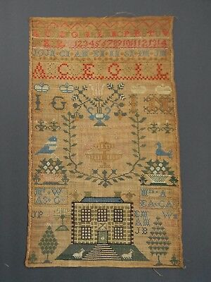 Needlework Sampler, Signed Ann Gardner,  Dated 1816