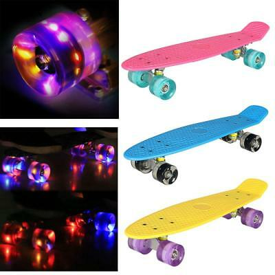 22''LED Cruiser Skateboard komplettboard Board Pennyboard Longboard Board Kinder