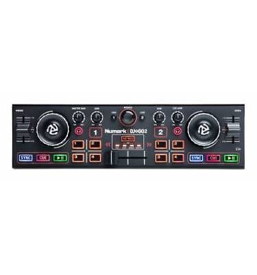 Numark DJ2GO 2 Controller per DJ Portatile a Due Canali con Interfaccia Audio In