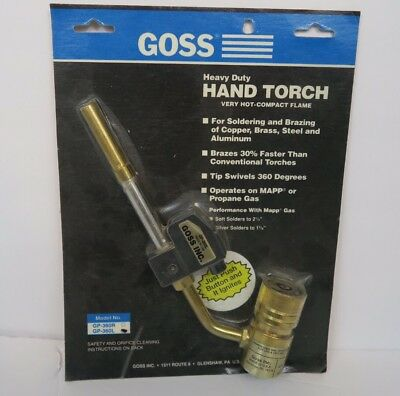 Goss Gp-360l Heavy Duty Hand Torch Button Igniter