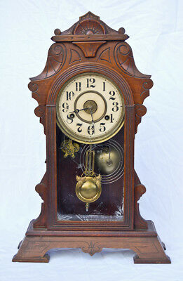 Gilbert New Haven 8 day striking Victorian parlor clock @ 1890 Fancy Project