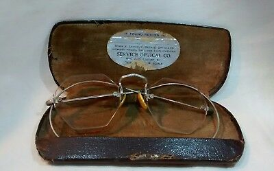 Nice Antique Pair of Silver Color Octagon Glasses