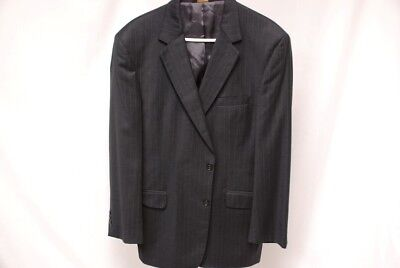 Perfect JOS. A. BANK SIGNATURE GOLD 2B gray pinstripe suit 42L 42 long