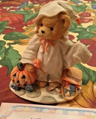 Enesco Cherished Teddies Stacie #617148 You Lift My Spirit Halloween Ghost 1994