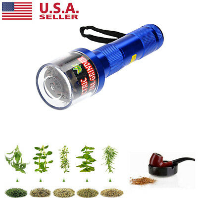 Electric Aluminum Tobacco Grinder Crusher Herb Spice Smoke Grinders Quickly US