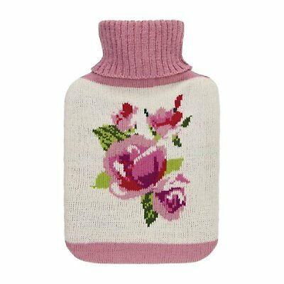 Aroma Home Rose and Geranium Roses Fragranced Knitted Hot Water Bottle