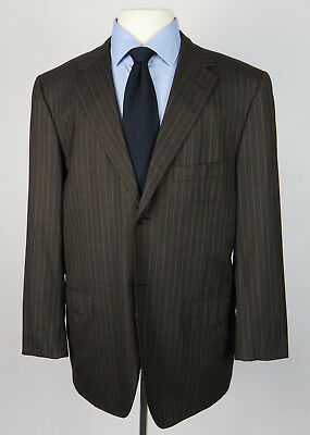 CARUSO Edwin Nazario Super 150's Wool 2-Btn Suit_Taupe Gray w/Stripes_43R US