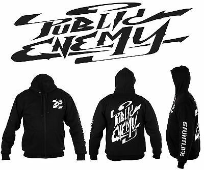 Public Enemy®  Reinforced Motorcycle Hooligan Hoodie With Ce Armour - Black