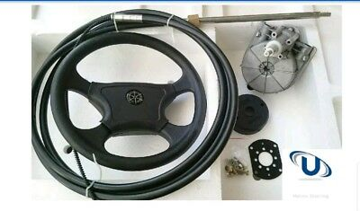 NEW 4.57m~15ft BOAT STEERING WHEEL SYSTEM QUICK CONNECT STEERING KIT