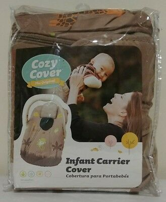 Baby Carrier Cover Car Seat Infants Girls Boys Up Cozy Jungle Theme Dual zippers