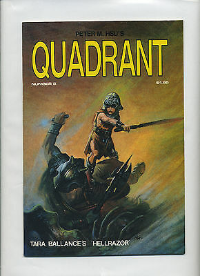 Peter Hsu's Quadrant #s 5 6 & 8 - VF/F+/VF B&W 1984 1st Prints 3 Issue Lot Adult