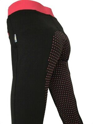 Ladies Black Full Seat Silicone Grip Riding Tights Lycra Horse Riding Tight