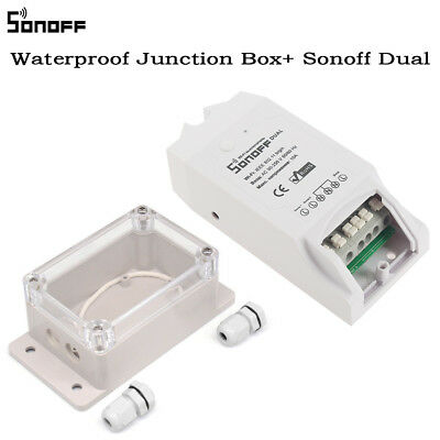 Sonoff ABS Waterproof Junction Box Per Smart Home Basic / Pow / RF / Dual Switch