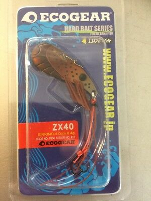 Ecogear ZX40 Metal Blade Fishing Lures YellowBelly Redfin Trout Crawdad 412