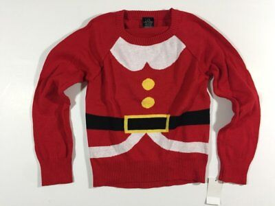 NWT Girls Size XS 4 5 Mrs. Claus Christmas Holiday Sweater
