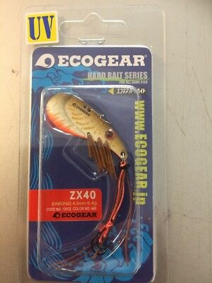 Ecogear ZX40 Metal Blade Fishing Lures YellowBelly Redfin Trout UV 440