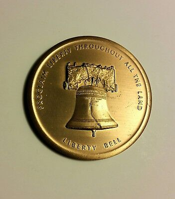 Liberty Bell Vintage Bronze Medallion Independence Hall National Historical Park