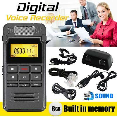 8GB Portable Digital Audio Voice Recorder LCD Metal Dictaphone MP3 Player U Dish