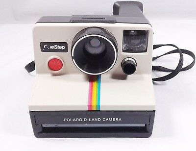 Polaroid One Step SX-70 Rainbow Land Camera Clean Tested Once