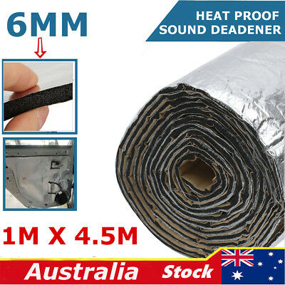 49sqft Car Sound Noise Deadener Insulation Mat Heat Proof Deadening Material