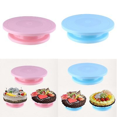 28CM Rotating Cake Icing Decorating Revolving Kitchen Turntable Display Stand #