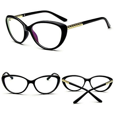 8947cd532a Women Retro Sexy Eyeglasses Frame Fashion Cat Eye Clear Lens ladies Eye  Glasses