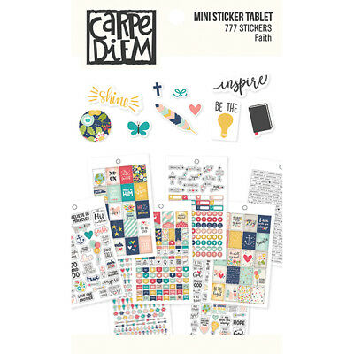Simple Stories - Faith - Mini Sticker Pack - 559 Stickers  12 Pages