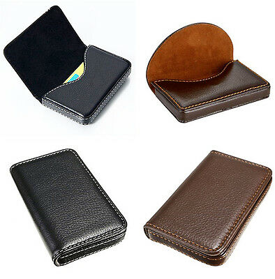 Credit card or business card holder wallet folio thin vinyl 199 waterproof business id credit card wallet holder pu leather pocket case box colourmoves