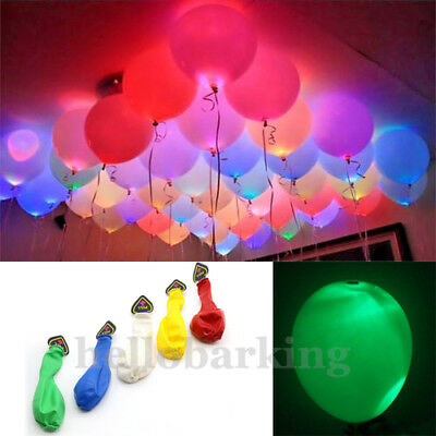 UK LED Light Up Balloons Xmas Party Wedding Birthday Decoration Color Changes