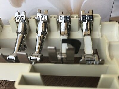 Bernina Sewing Machine Feet Vintage Wide Two Prong Lot5