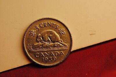 Canada 1939 Five Cents in extra fine