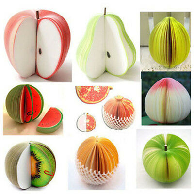 Office Home Novelty Fruit Memo Note Pad Paper Notepads Crafts Gift