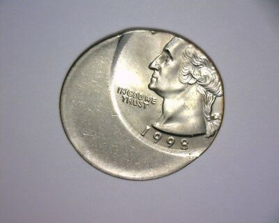1998 Washington Quarter 50 % OFF CENTER,>>HIGH GRADE<< US ERROR COIN