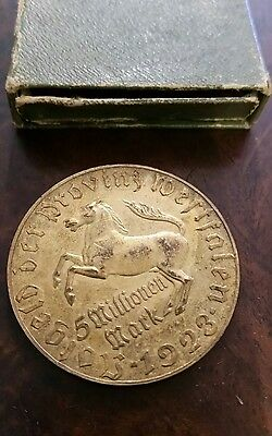 5 million marks 1923 germany coin