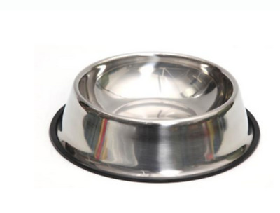 Non Slip Stainless Steel Cat Puppy Dog Pet Bowl Dish Water Food Feeding