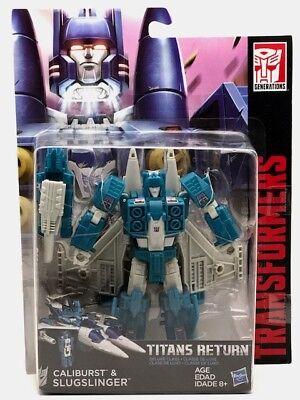 Transformers Generations Titans Return Deluxe Caliburst e Slugslinger 15 cm