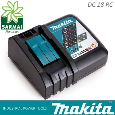 Carica Batterie MAKITA DC18RC LXT rapido litio 7,2V 18V ORIGINALE 240V 195584-2