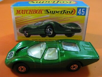 Vintage 60/70´s Matchbox Lesney Superfast Nº45-A Ford Group 6